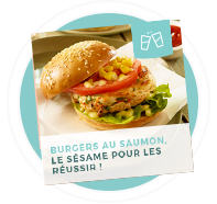 Burger au saumon