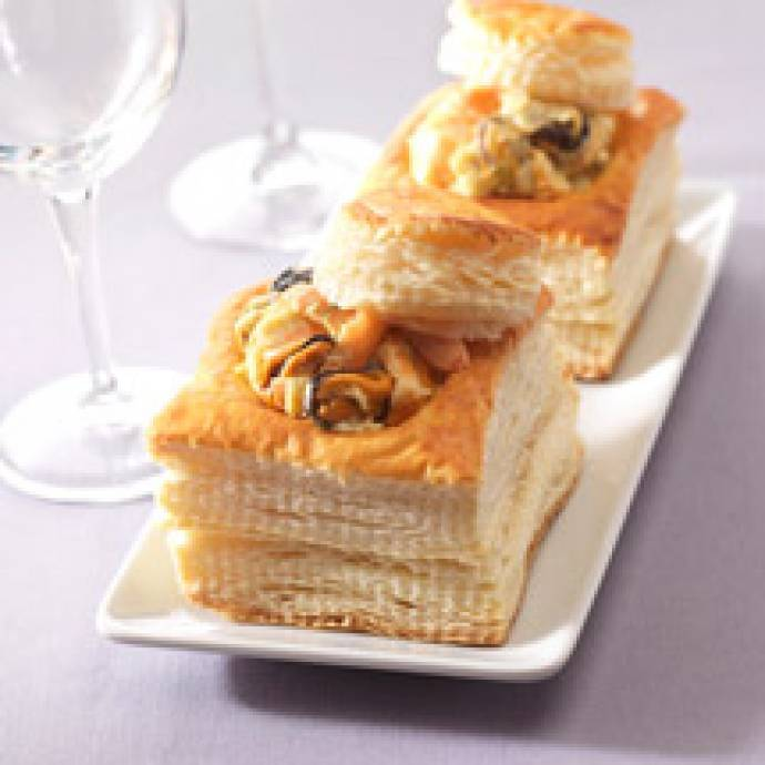 Vol-au-vent de fruits de mer au curry