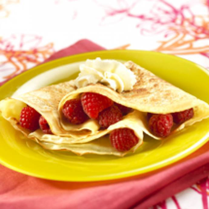 Crêpe Chantilly Framboises