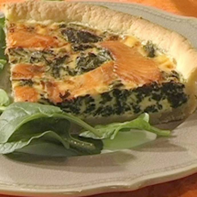 Quiche épinards saumon