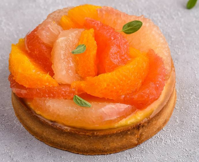 Petites tartes orange-pamplemousse